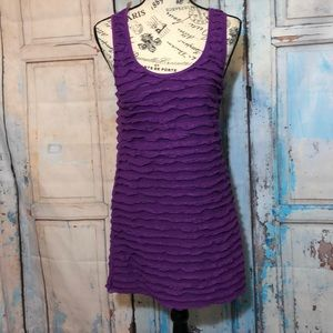 Free People Ruffle Tank Dress Purple